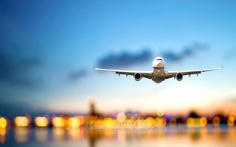 Flight landing aeroplane