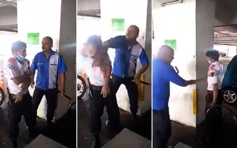 malaysia security guard was brutally bitten by indian origin Malaysian