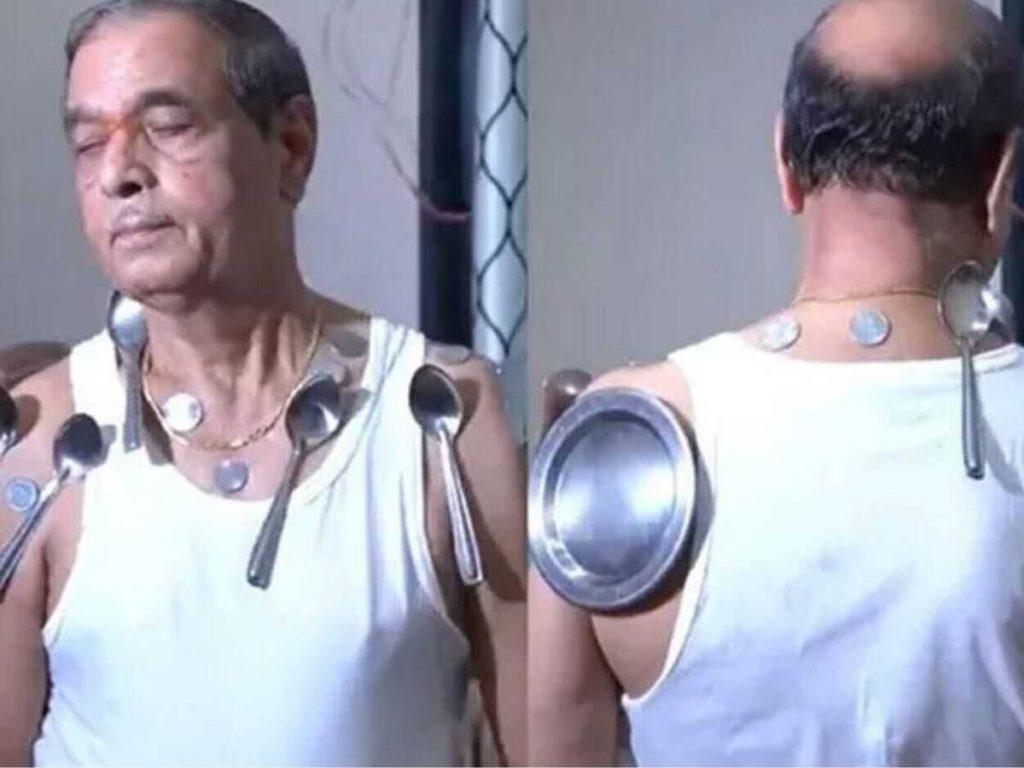 Maharashtra Nasik Man shows magnetic power after corona second dose